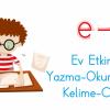 E Ve L Sesi Yazma Okuma Ev Etkinliği Ercan Akmercan