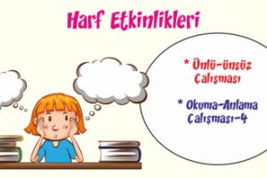 Türkçe Kitabı-1 Harf Etkinliği ve Okuma Anlama-3