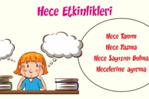 Türkçe Kitabı-1 Hece Bilgisi Çalışması