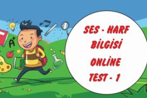Ses – Harf Bilgisi Test-1 Çöz