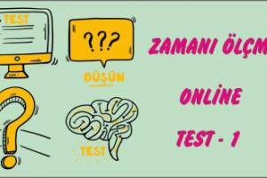1.Sınıf Matematik Online Zaman Ölçüsü Test-1