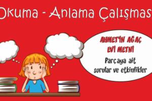 Türkçe Kitabı-1  Okuma Anlama Etkinliği-4