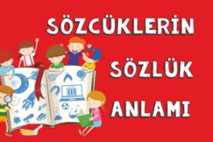 Türkçe Kitabı-1 Sözcüklerin Sözlük Anlamları
