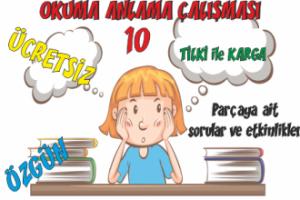 Türkçe Kitabı-1 Okuduğunu Anlama Etkinlikleri-10