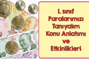 1. Sınıf Paralarımızı Tanıyalım