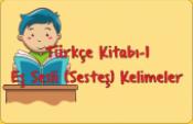 Türkçe-1 Eş Sesli Kelimeler Çalışması