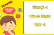 Türkçe 1 Noktalama ve Yazım Kuralları (Test-5)