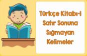 Türkçe 1 Satır Sonuna Sığmayan Kelimeler