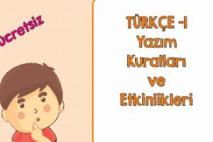 Türkçe Kitabı 1 Yazım Kuralları