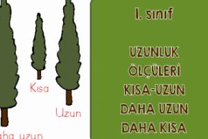 1. Sınıf Uzunlukları Ölçme