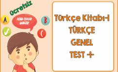 Türkçe 1 Genel Test 1