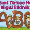 2 Sınıf Türkçe Harf Bilgisi Etkinlik Ercan Akmercan