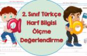 2. Sınıf Türkçe Harf Bilgisi Ölçme Değerlendirme