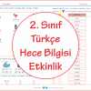 2 Sınıf Türkçe Hece Bilgisi Etkinlik Ercan Akmercan