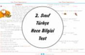 2. Sınıf Türkçe Hece Bilgisi Test