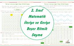 2. Sınıf Matematik İleriye ve Geriye Beşer Ritmik Sayma