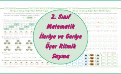 2. Sınıf Matematik İleriye ve Geriye Üçer Ritmik Sayma
