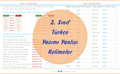 2. Sınıf Türkçe Yazımı Yanlış Kelimeler
