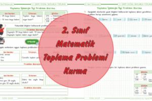 2. Sınıf Matematik Toplama Problemi Kurma