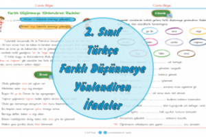 2. Sınıf Türkçe Farklı Düşünmeye Yönlendiren İfadeler