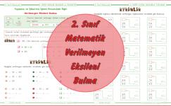 2. Sınıf Matematik Verilmeyen Eksileni Bulma