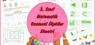 2. Sınıf Matematik Uzamsal İlişkiler (Simetri)