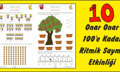 1. Sınıf Doğal Sayılar 10'ar Ritmik Sayma Etkinliği