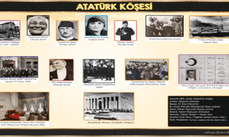 Atatürk Köşesi 50*70 cm Poster