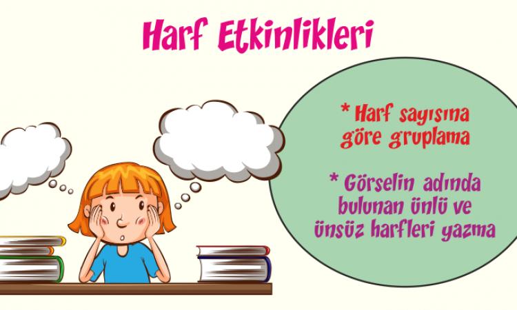 Türkçe Kitabı-1 Harf Etkinliği-2
