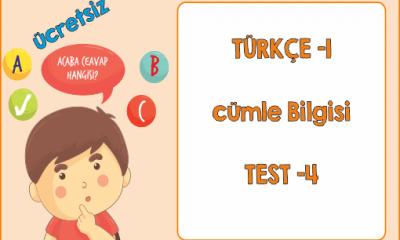 Türkçe Kitabı -1 Cümle Bilgisi (Test-4)