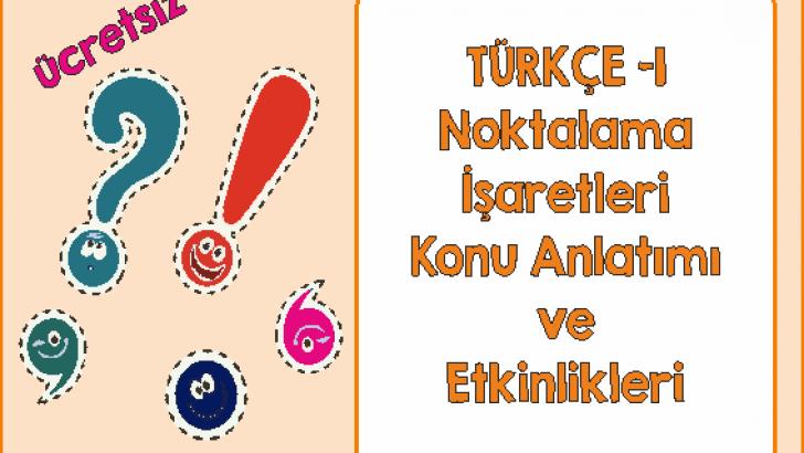 Turkce 1 Noktalama Isaretleri Ercan Akmercan