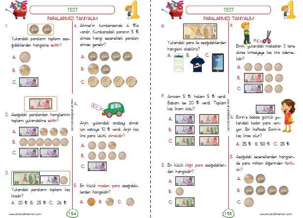 1. Sınıf Paralar
