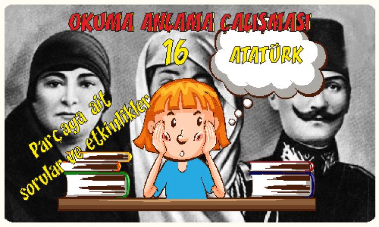 Türkçe -1 Okuma Anlama Etkinlikleri 16