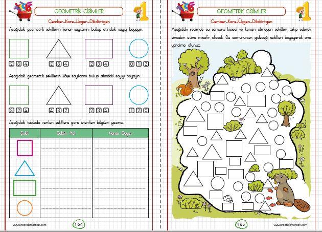 1 Sınıf Geometrik Cisimler Ve şekiller Ercan Akmercan