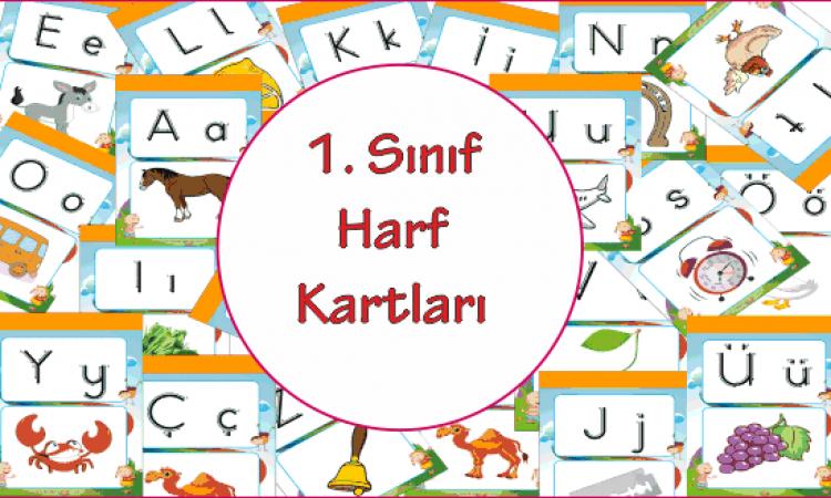 1. Sınıf Harf Kartları