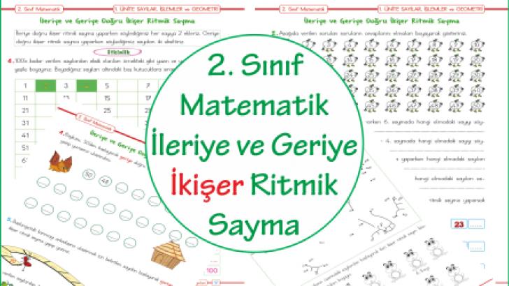 2 Sinif Matematik Ileriye Ve Geriye Ikiser Ritmik Sayma Ercan