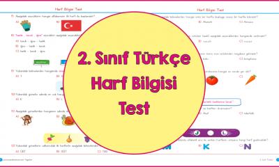 2. Sınıf Türkçe Harf Bilgisi Test