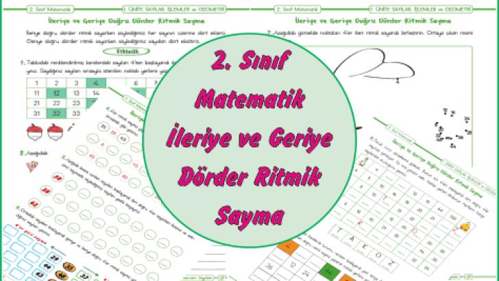 2 Sinif Matematik Ileriye Ve Geriye Dorder Ritmik Sayma