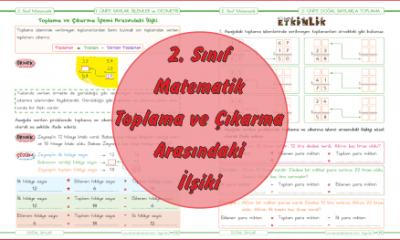 2. Sınıf Matematik Toplama ve Çıkarma Arasındaki İlişki