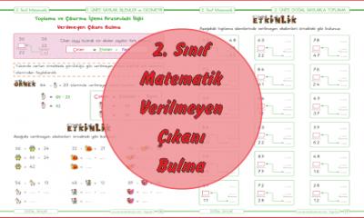 2. Sınıf Matematik Verilmeyen Çıkanı Bulma