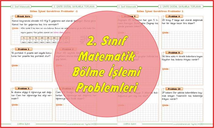 2. Sınıf Matematik Bölme İşlemi Problemleri