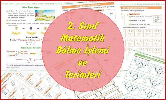 2. Sınıf Matematik Bölme İşlemi ve Terimleri