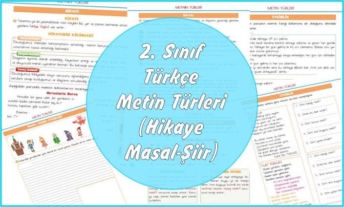 2. Sınıf Türkçe Metin Türleri (Hikaye-Masal-Şiir)