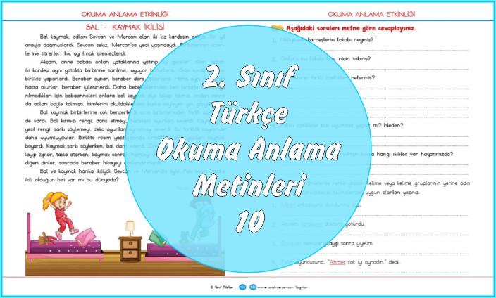 2. Sınıf Türkçe Okuma Anlama Metni – 10