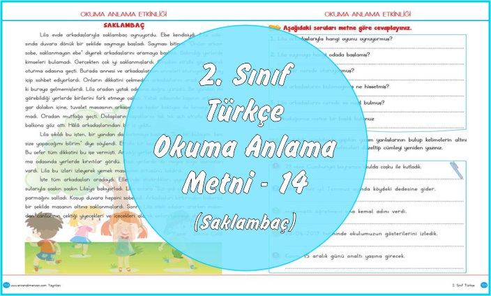 2. Sınıf Türkçe Okuma Anlama Metni – 14