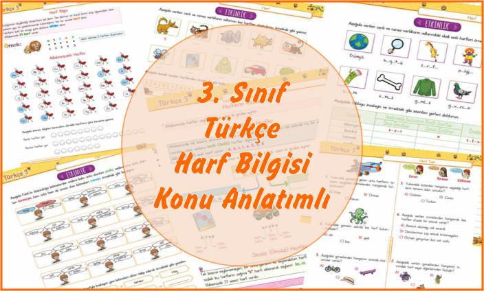 3. Sınıf Türkçe Harf Bilgisi Konu Anlatımlı