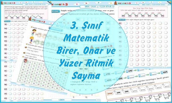 3. Sınıf Matematik Birer, Onar ve Yüzer Ritmik Sayma