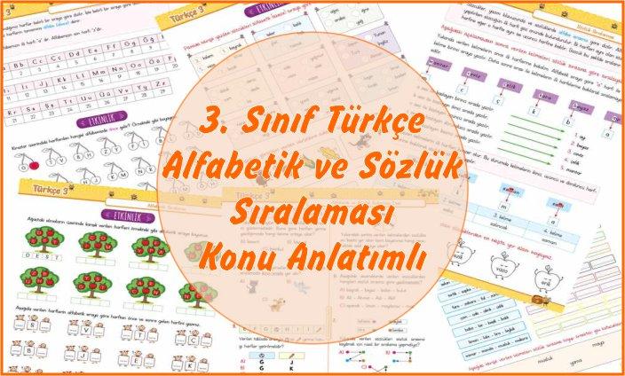 3. Sınıf Türkçe Alfabetik ve Sözlük Sıralaması
