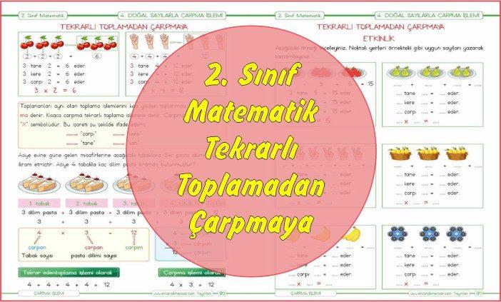 2 Sınıf Matematik Tekrarlı Toplamadan çarpma Işlemine Ercan Akmercan
