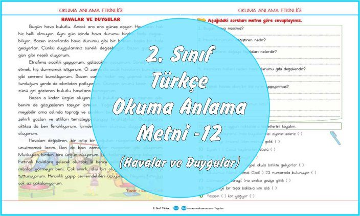 2. Sınıf Türkçe Okuma Anlama Metni - 12